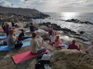 Yoga och vandring i Italien